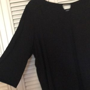 Catherines 24w black top tunic 3/4 sleeves